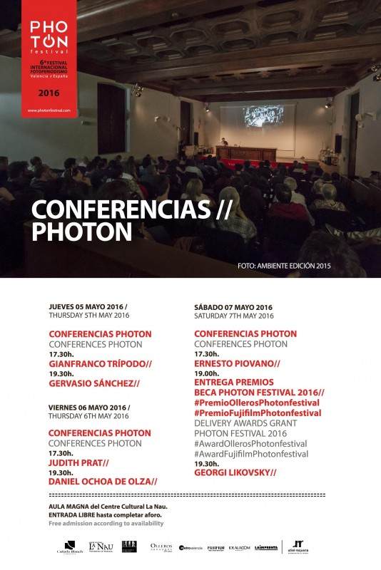 CONFERENCIAS PHOTON FESTIVAL 2016