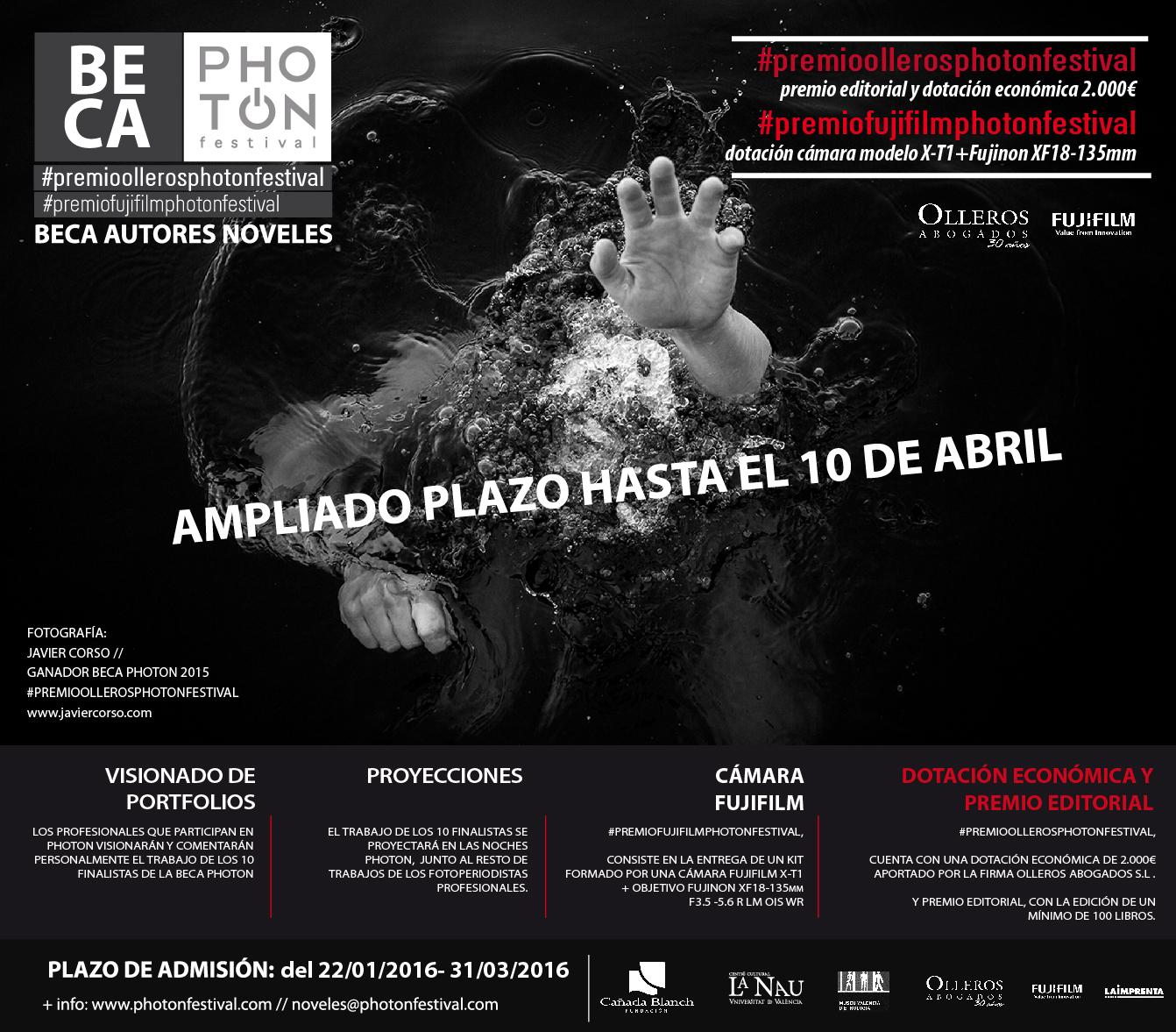 CARTEL_BECA PHOTON FESTIVAL 2016-ampliado plazo 10 de abril